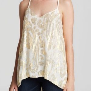 Ella Moss tank with gold embroidery